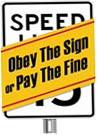 Obey the sign or pay the fine logo