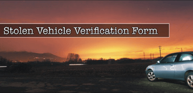 Stolen Vehicle Verification Form